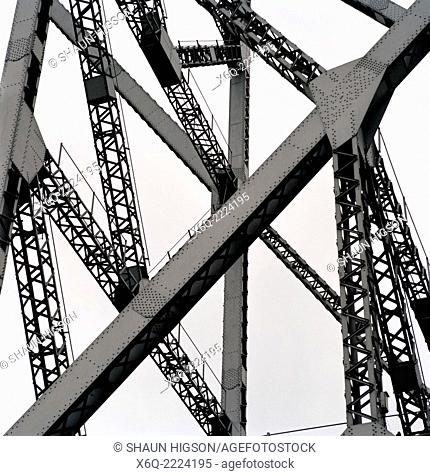 The Howrah Bridge at Calcutta Kolkata in West Bengal in India in South Asia