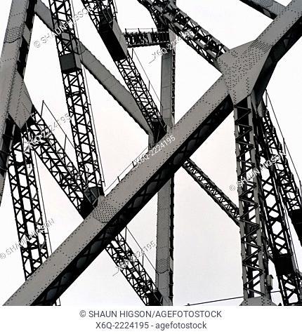 The Howrah Bridge at Calcutta (Kolkata) in West Bengal in India