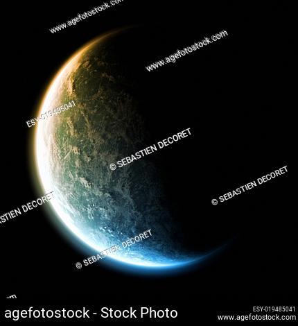 Planet landscape illustation