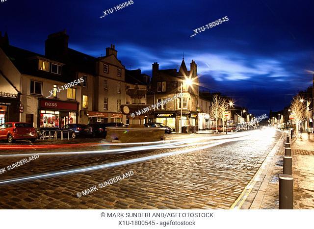 Market Street at Dusk St Andrews Fife Scotland