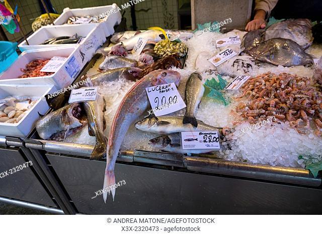 Rialto fish market. Venice, Italy