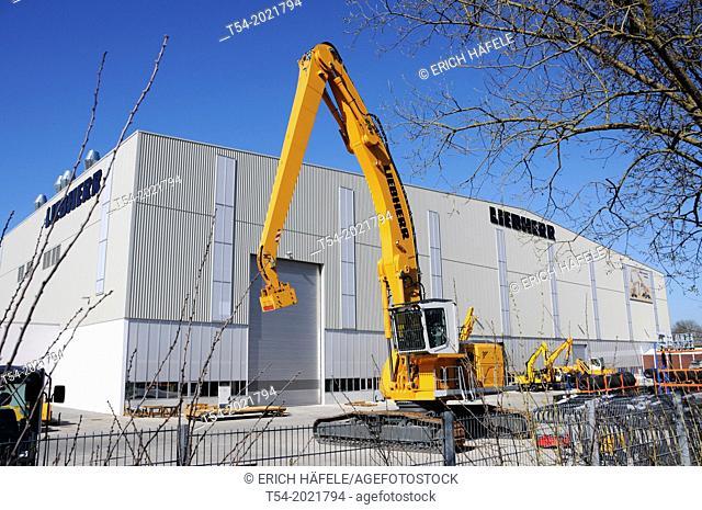 Liebherr hydraulic excavator factory in Kirchdorf / Iller