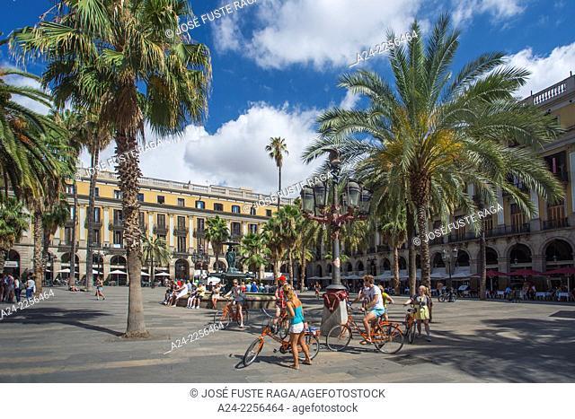 Spain , Catalunya,Barcelona City , Off The Ramblas , Real Square