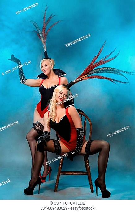 Couple of girls at the cabaret dancers