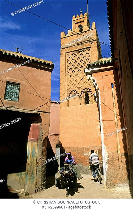 inside the medina of Marrakech, Morocco, North Africa