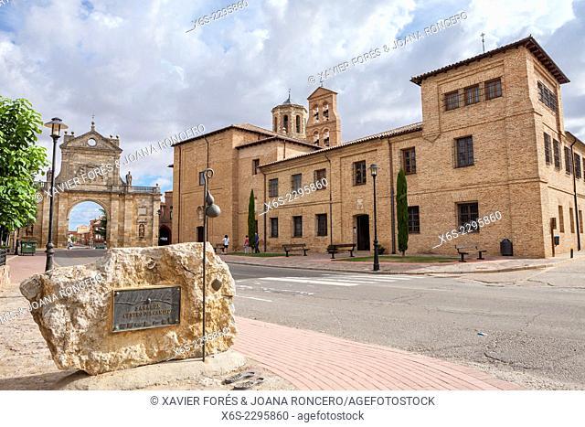 San Benito Arch and Monastery of Santa Cruz in Sahagun, Way of St. James, Leon, Spain