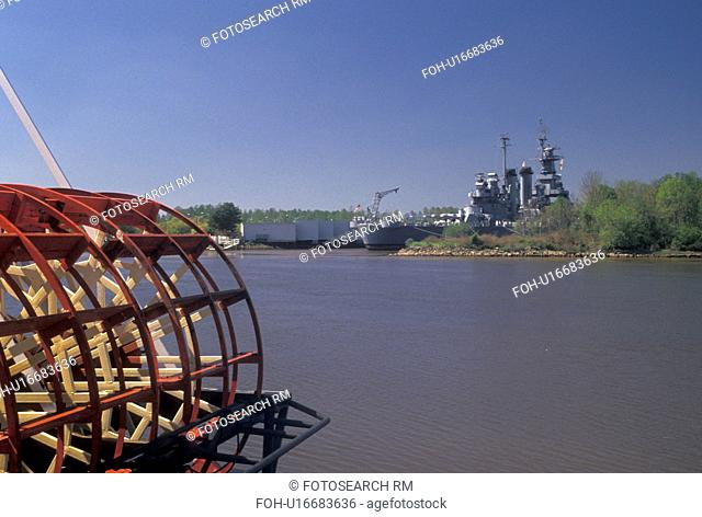 paddlewheel, Wilmington, North Carolina, NC, A Paddlewheeler along the Cape Fear River in Wilmington