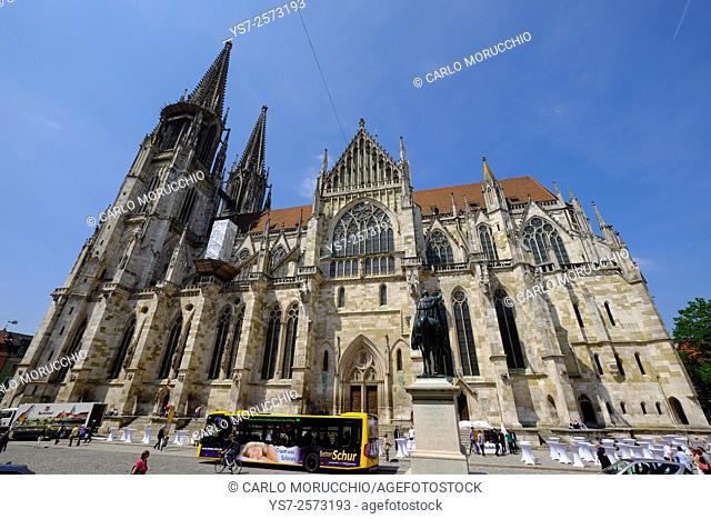 Dom St. Peter, Regensburg Cathedral, Regensburg, Germany, Europe