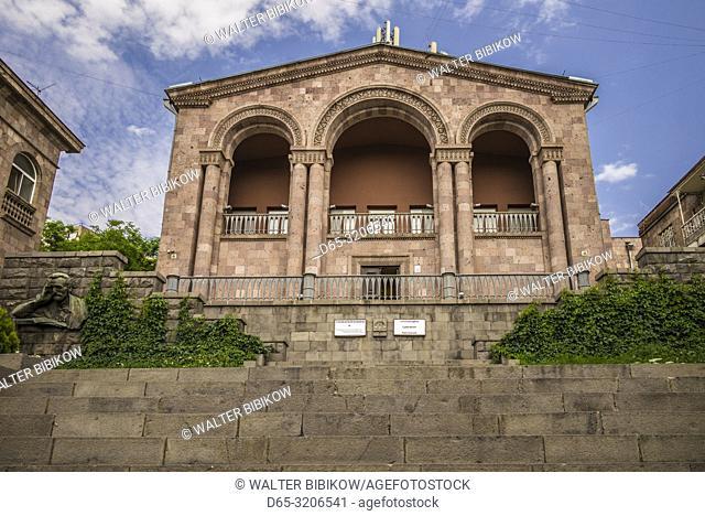 Armenia, Yerevan, home museum of Hovhannes Tumanyan, greatest Armenian poet, exterior