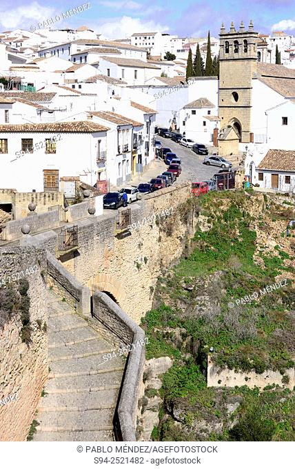 View of the chuch of Padre Jesús in Ronda, Malaga, Andalusia, Spain