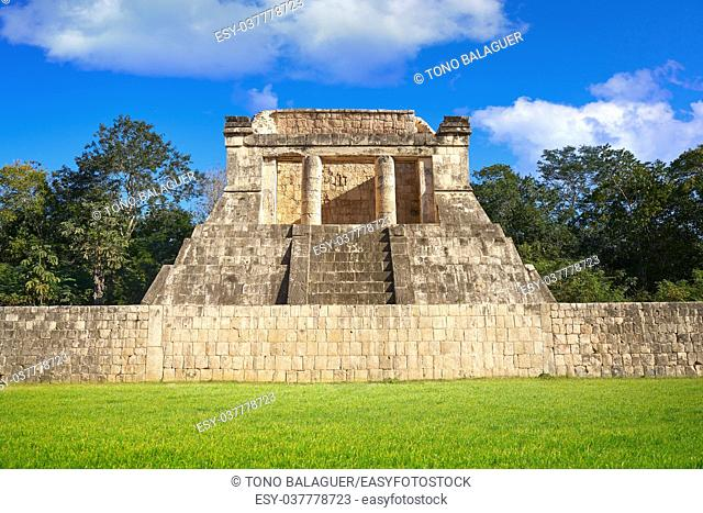 Chichen Itza north temple in Mexico Yucatan