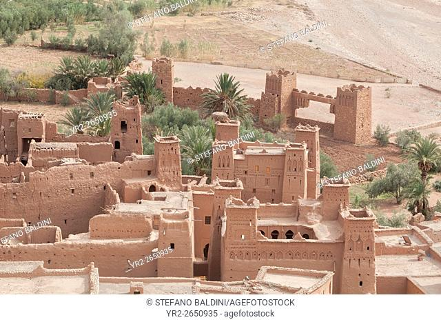 View from inside Ksar Ait Benhaddou, Ait Ben Haddou, Ouarzazate, Morocco