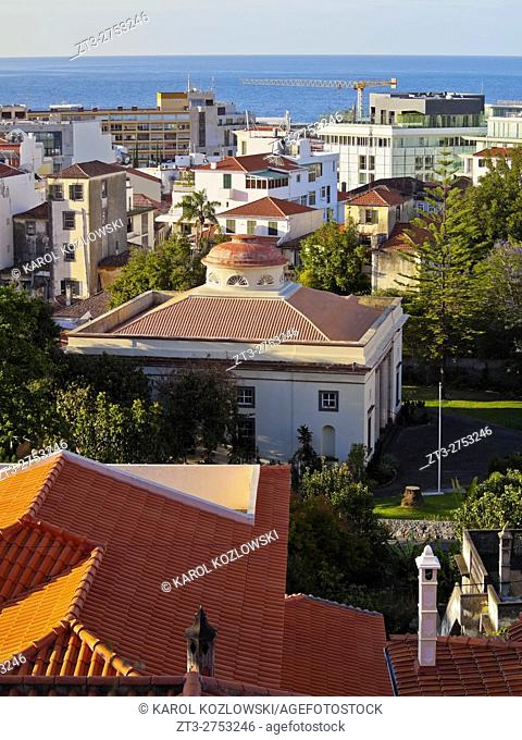 Portugal, Madeira, Elevated view of Funchal.