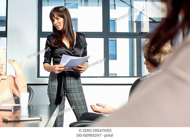 Businesswomen at meeting in office
