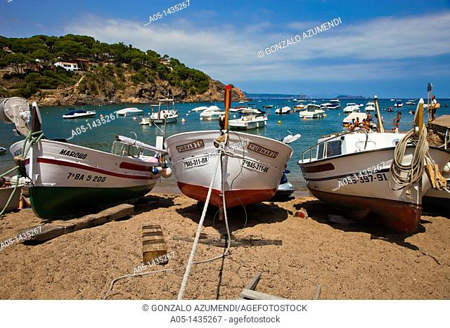 Sa Riera beach, Begur, Baix Empordá, Costa Brava, Girona Province, Catalonia, Spain