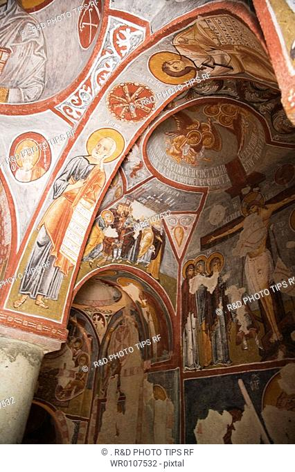 Turkey, Cappadocia, Goreme Air museum, Elmali or Apple church