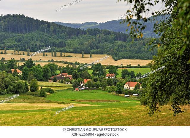 country side near Cesky Krumlov, South Bohemia, Czech Republic, Europe