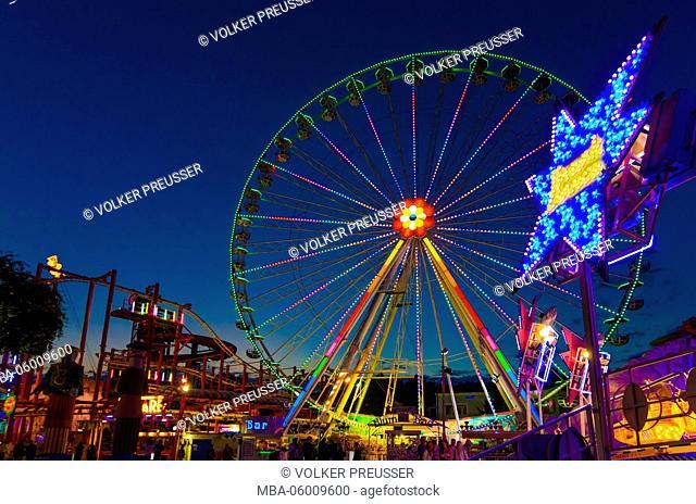 Flower wheel in the Prater, Austria, Vienna, 02nd area