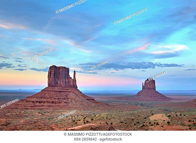 Monument Valley at blue hour, Arizona, United States