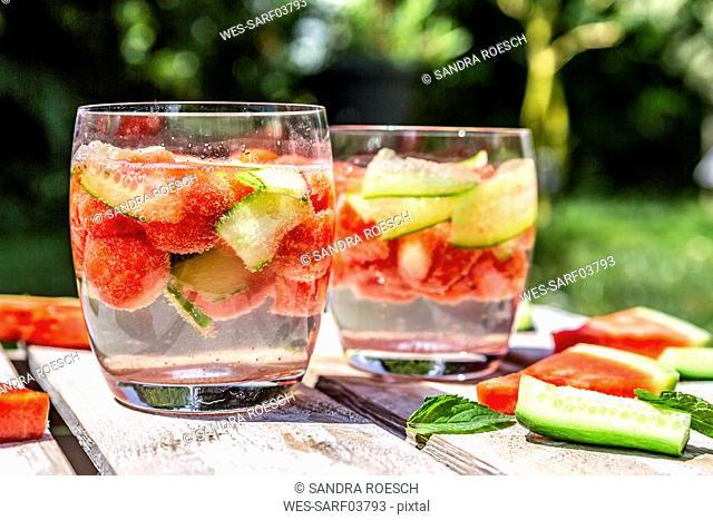 Melon cucumber water