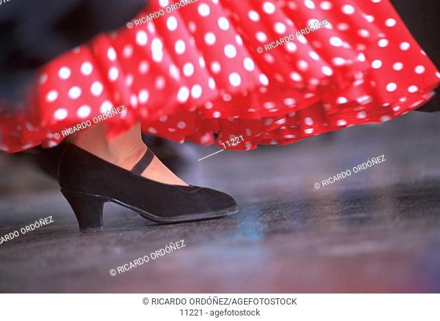 Flamenco dancer. Andalusia. Spain