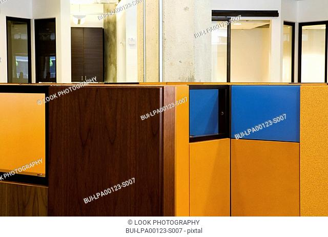 Detail of modern office cubicles