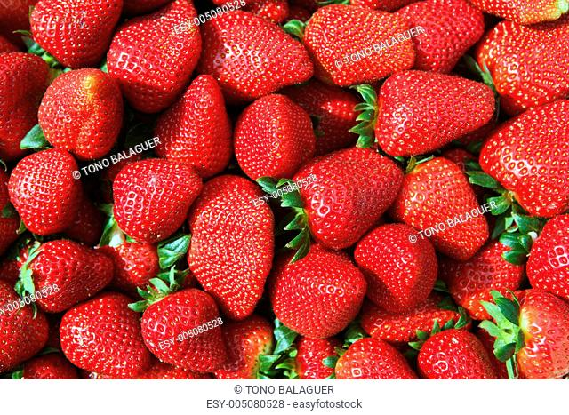 red strawberries pattern in maket box