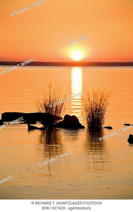 Sunset over James River, Virginia