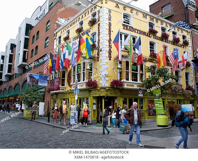The 'Oliver St John Gogarty' Pub  Temple Bar  Dublin  Ireland