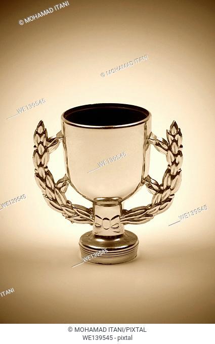 Sepia toned trophy