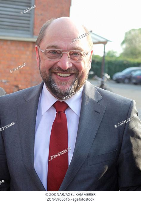 Martin Schulz zu Wahlkampfauftritt in Magdeburg