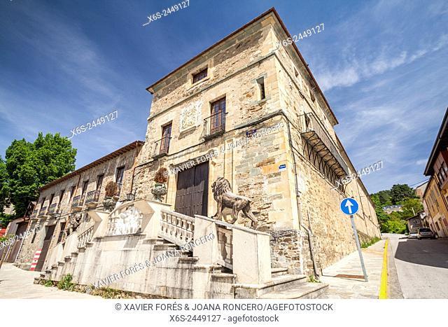 Palace in Villafranca del Bierzo, Way of St. James, Leon, Spain