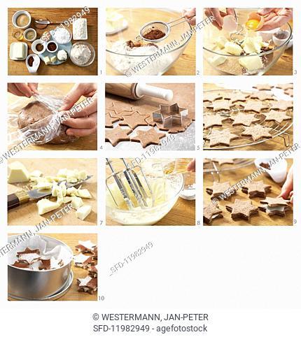 Baking tiramisu stars
