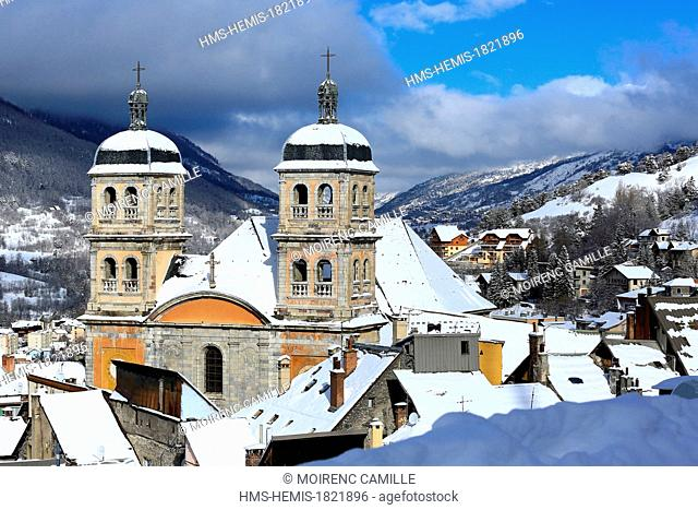 France, Hautes Alpes, Briancon, Vauban site listed as World Heritage by UNESCO, towers of Notre Dame Collegiate Church of the 18th century