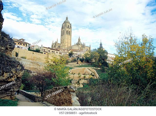 View from Clamores valley. Segovia, Spain