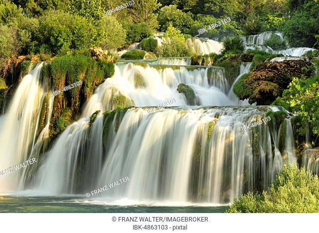 Skradinski Buk Waterfall, long-term photo, Krka National Park, Dalmatia, Croatia