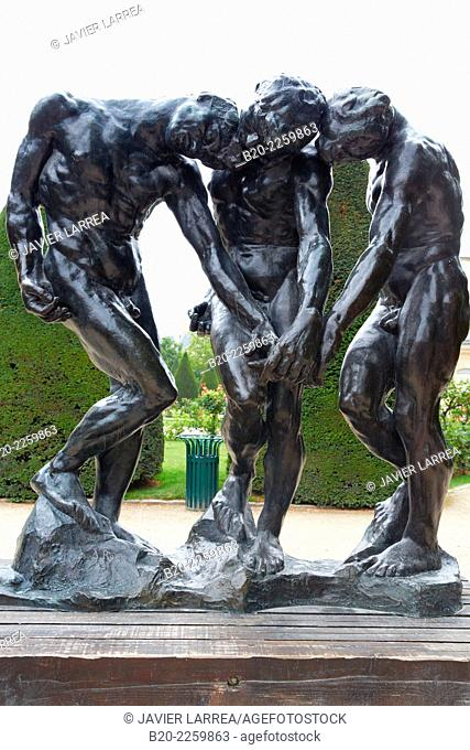 THE THREE SHADOWS, sculpture by Auguste Rodin. Rodin Museum. Paris. France