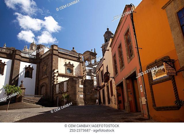 Buildings near the Columbus House-Casa de Colon in Vegueta neighborhood, Las Palmas de Gran Canaria, Canary Islands, Spain, Europe