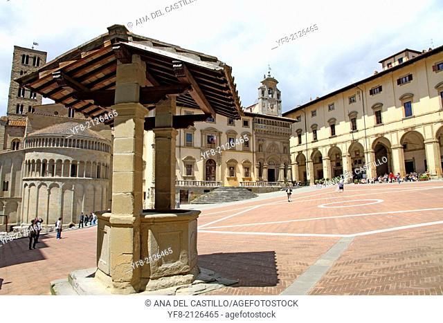 The Vasari Loggia on Piazza Grande. Arezzo Tuscany Italy