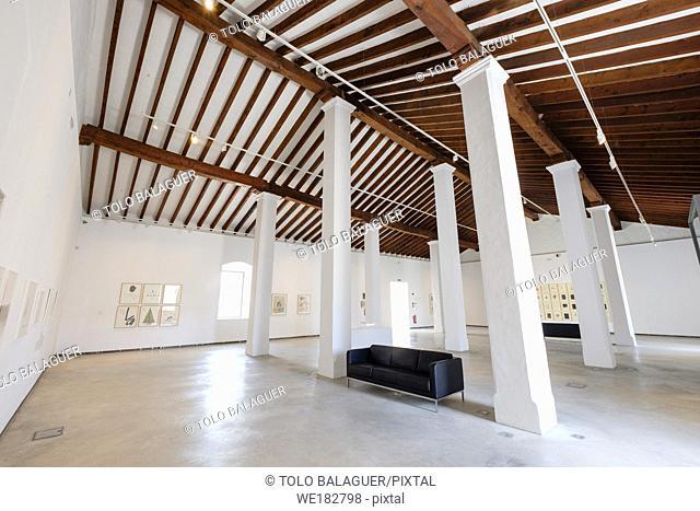 Museu dâ. . Art Contemporani dâ. . Eivissa, (MACE), en el baluarte de Sant Joan, Planta alta de la antigua Sala de Armas, Ibiza, balearic islands, Spain
