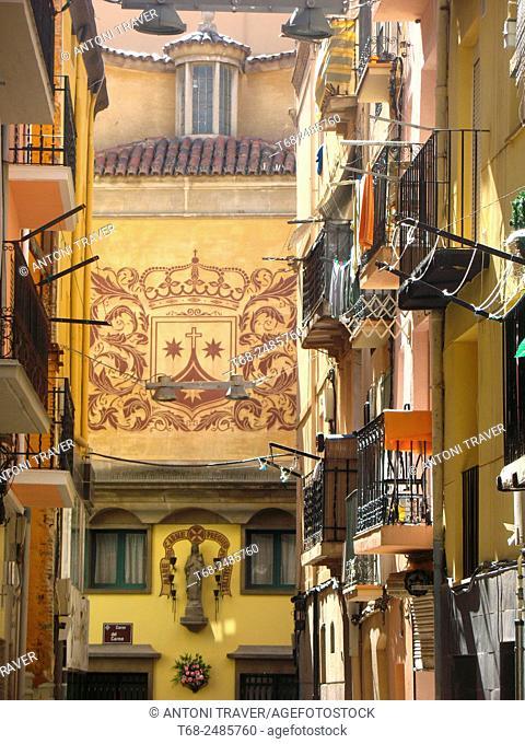 Old houses, Lleida, Spain