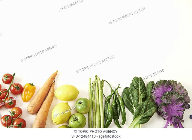 Vegetable in rainbow colours