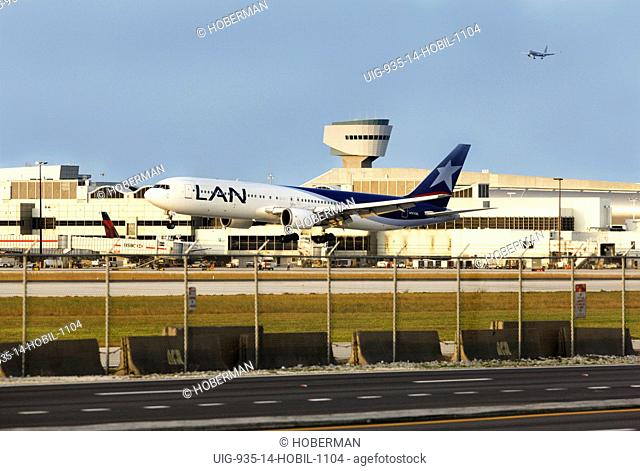 Airplane on Runway, Miami International Airport