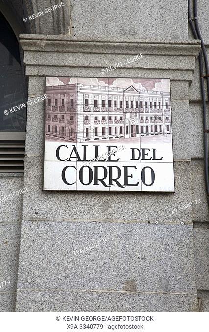 Correo Street Sign; Madrid; Spain