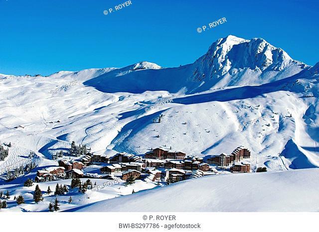 ski resort of Belle Plagne, France, Savoie