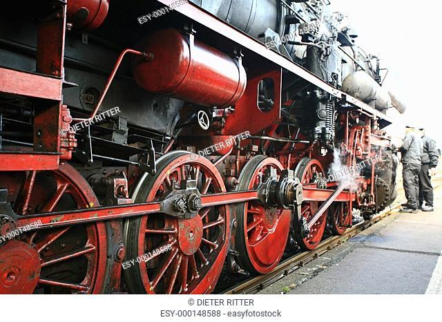 Räde rund Achsen einer Lokomotive B52