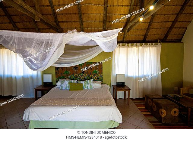 Namibia, Kunene region, Damaraland, Palmwag Lodge, Bedroom