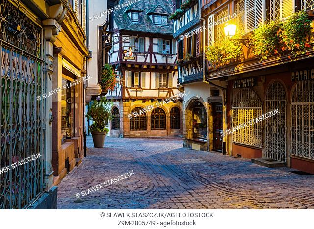 Dawn in Colmar old town, Alsace, France