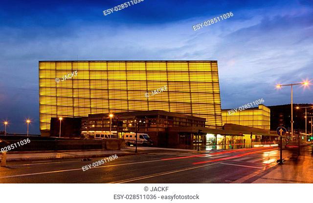 DONOSTIA, SPAIN - NOVEMBER 5, 2014: Kursaal Congress Centre and Auditorium is the home of the biggest film festival in Spain - San Sebastian International Film...
