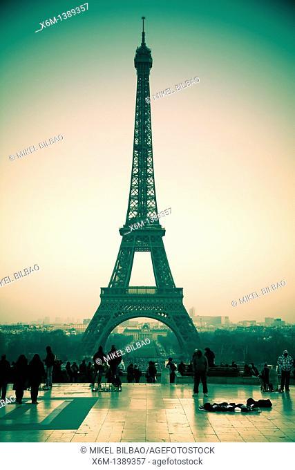 Eiffel Tower  Paris, France, Europe